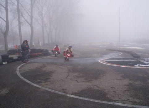 Test a Novara sul bagnato